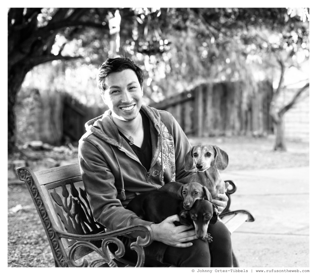Me & My Dachshund Pack   January 2014. Photo by: Johnny Ortez-Tibbels ©