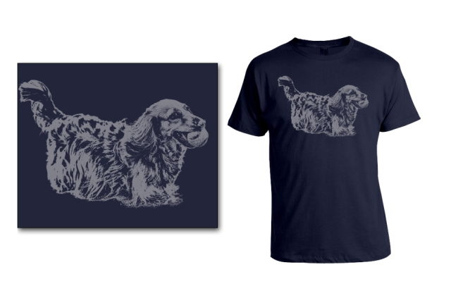 DOGS Summer 2014 Longhair (Sophie) tee option ©