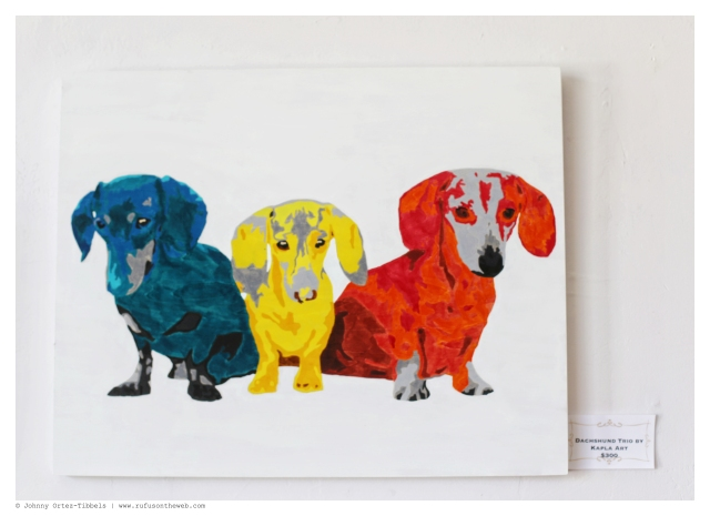 Dachshund Trio by Kapla Art $300 | June 2014.  Photo by: Johnny Ortez-Tibbels ©