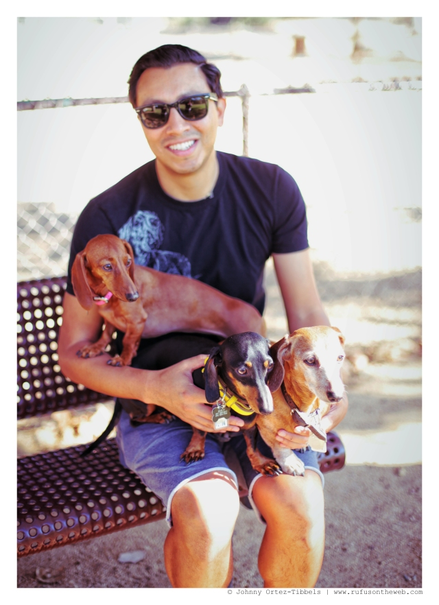 Lily, Emily, Rufus & his human | November 2014.  Photo by: Johnny Ortez-Tibbels ©