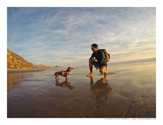 Lily & Dad on the beach during a pensive sunset moment | December 2015. Photo by: Johnny Ortez-Tibbels ©
