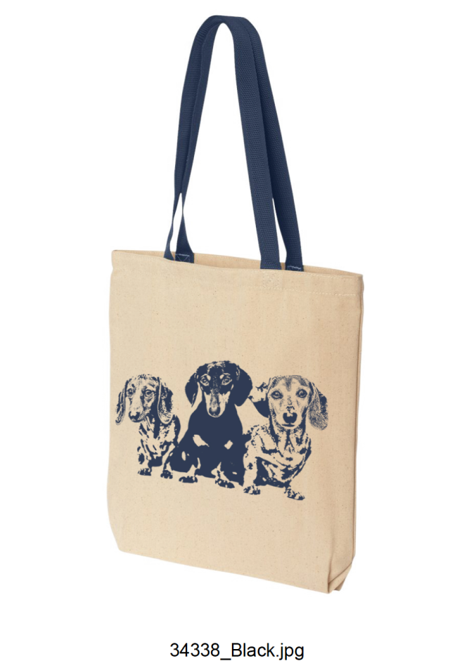 A canvas tote in two different colors (ONLY 12 left --> 5 Blue and 7 Red) $25.