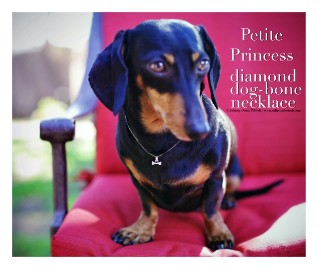 Petite Princess diamond dog-bone necklace | February 2016. Photo by: Johnny Ortez-Tibbels ©